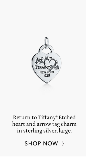 Shop Now: Sterling Silver Return to Tiffany Etched Heart and Arrow Tag Charm