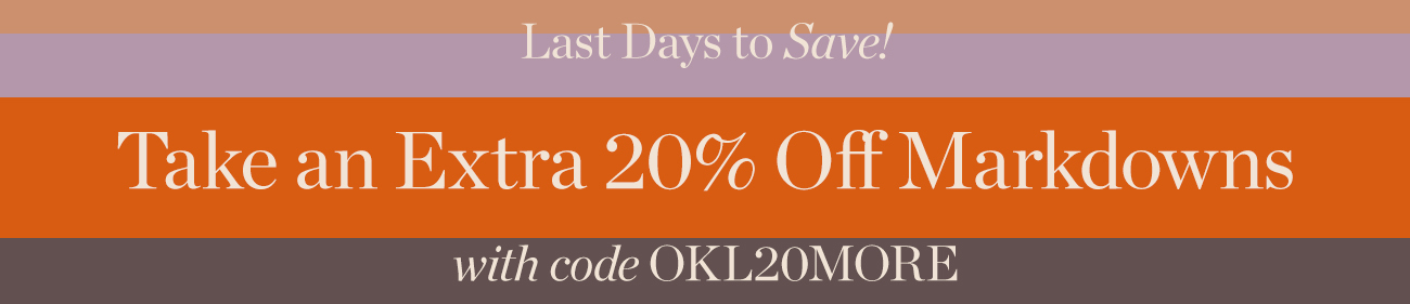 20% Off markdowns