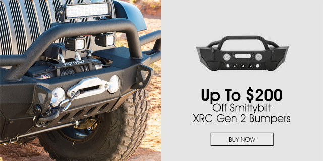 Save $200 On Smittybilt XRC Gen 2 Bumpers