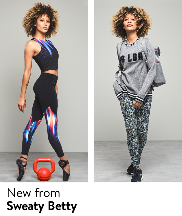 New activewear from Sweaty Betty.