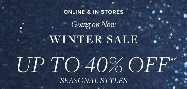 WINTER SALE | GOING ON NOW