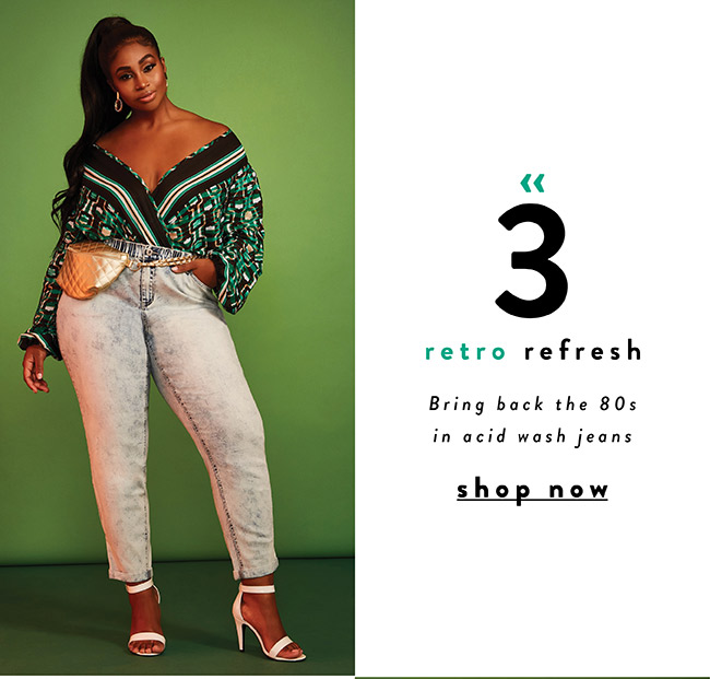Bring back the 80's in acid wash jeans - Shop Now