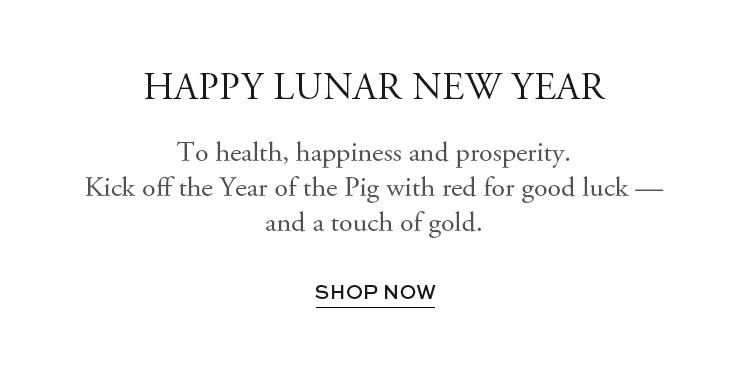 Kick off the Year of the Pig with red for good luck - shop now