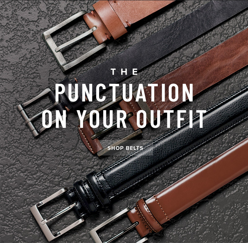 Add the perfect punctuation to your outfit with our full-line of accessories. Display images to learn more!