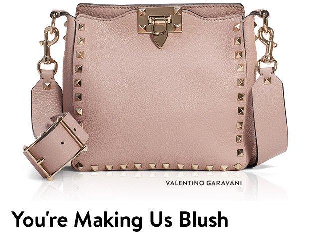 You're making us blush: designer handbags and wallets.