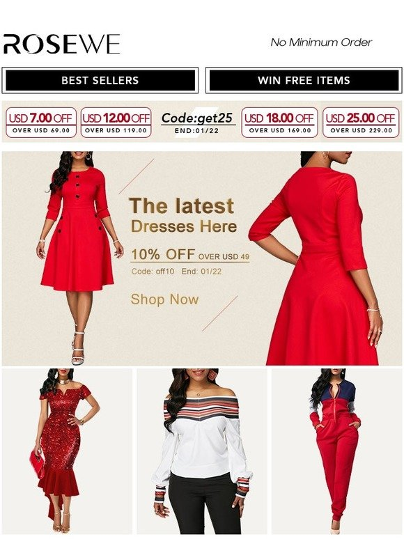 6f7858ead12 Rosewe  Rosewe! Down to  9.99 For Dresses   Tops in Flash Sale!