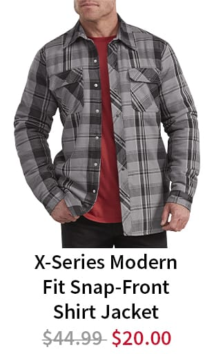 a913bfdc827 Dickies X-Series Modern Fit Snap-Front Shirt Jacket