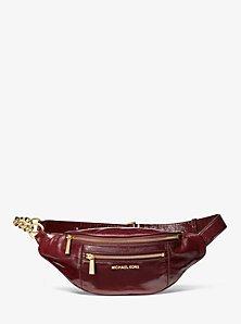 Medium Crinkled Calf Leather Belt Bag