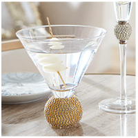 Gold Stemless Martini Glass