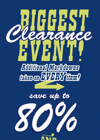 Biggest Clearance Event