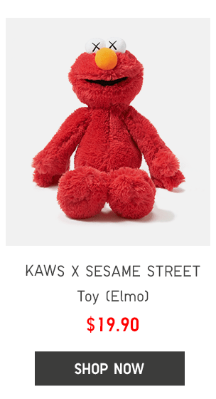 KAWS X SESAME STREET TOY (ELMO) $19.90 - SHOP NOW