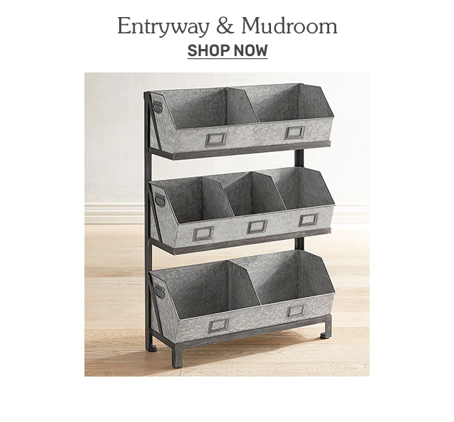 Shop storage for entryways and mudrooms.