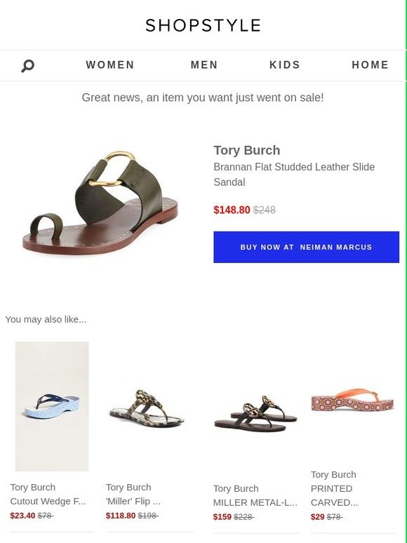 09a2eec3fa0 ShopStyle: Sale Alert: Tory Burch | Milled