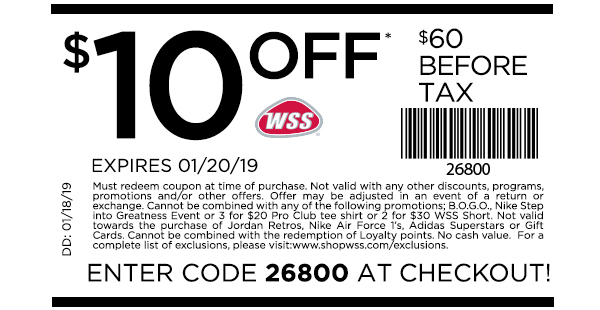 Shop WSS: New Coupon Inside! Bring to