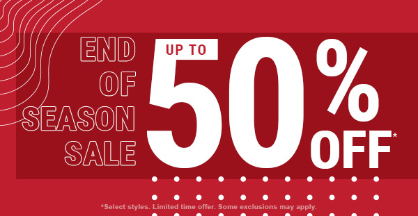 Shop End of Season Sale