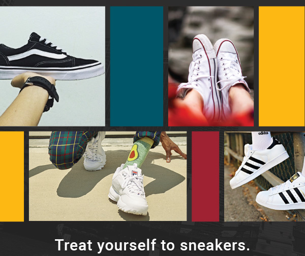 Treat yourself to sneakers
