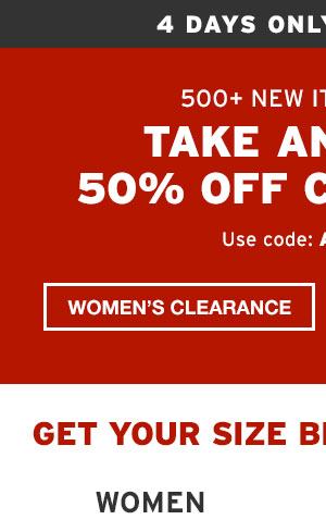 SHOP WOMEN'S CLEARANCE