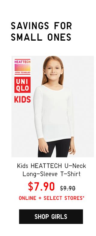 KIDS HEATTECH EXTRA WARM LEGGINGS $9.90 - SHOP GIRLS