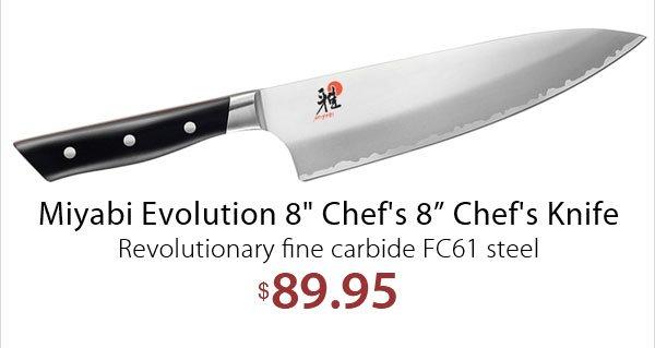 CutleryAndMore com: Miyabi Chef's Knife Specials - End 1/31