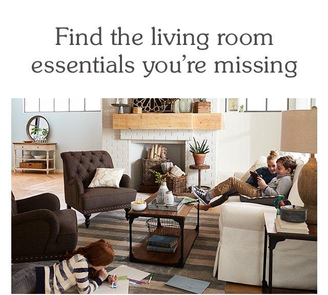 Shop living room essentials.