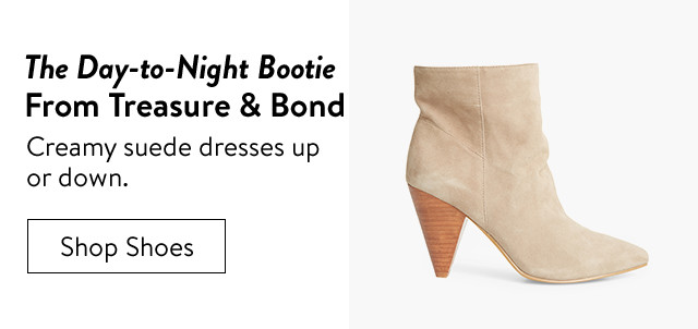 The women's day-to-night bootie from Treasure & Bond.