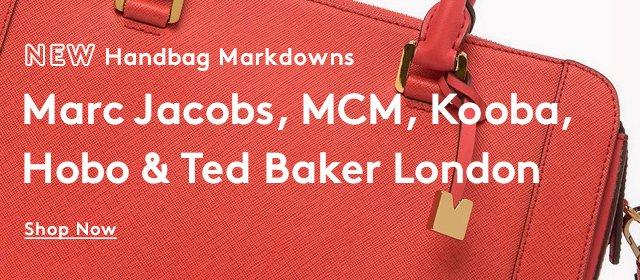 New Handbag Markdowns | Marc Jacobs, MCM, Kooba, Hobo & Ted Baker London | Shop Now