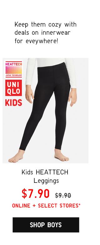 KIDS HEATTECH EXTRA WARM CREW NECK T-SHIRT $9.90 - SHOP BOYS