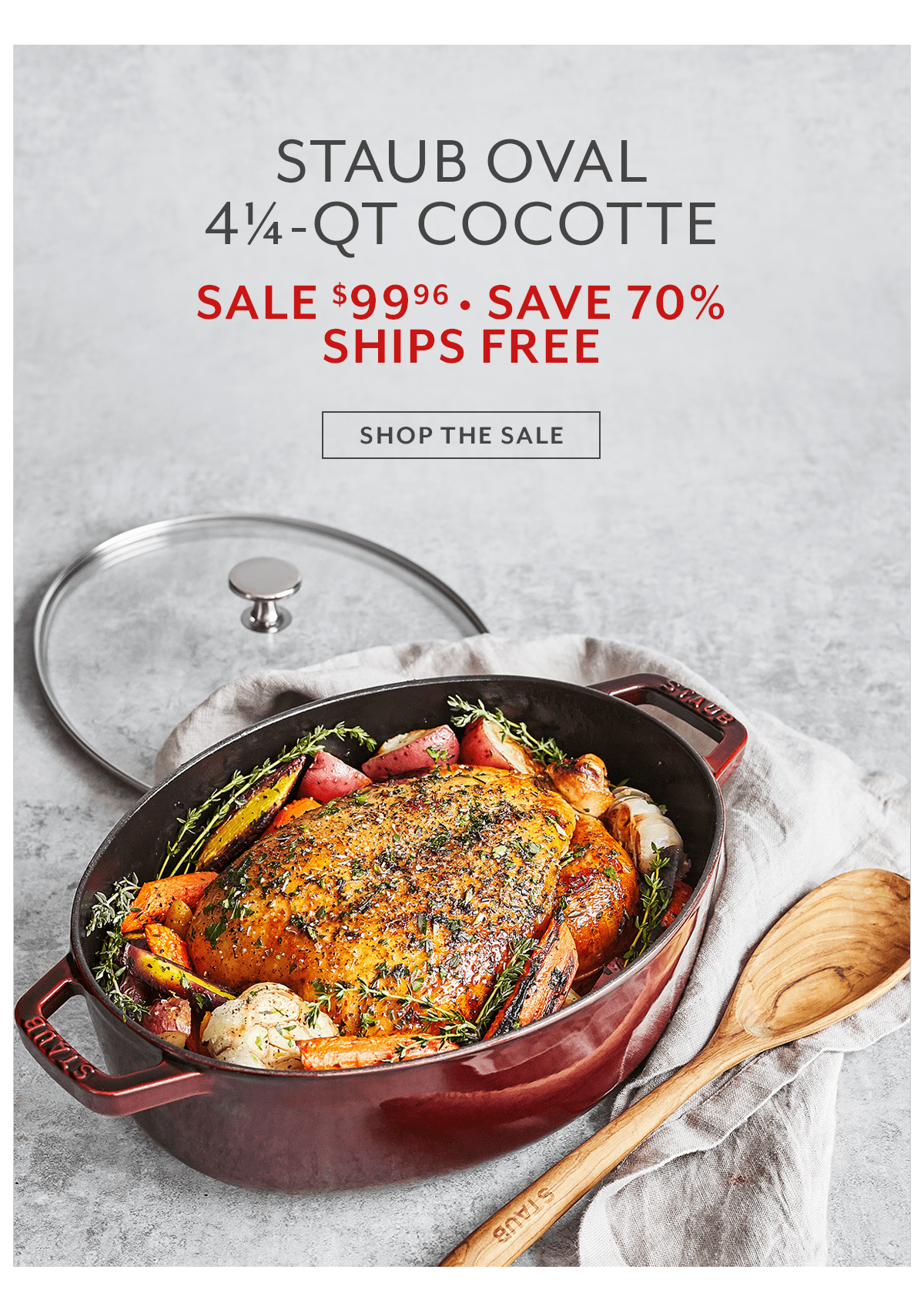Shallow Oval Cast Iron Cocotte with Glass Lid, 4.25 qt.