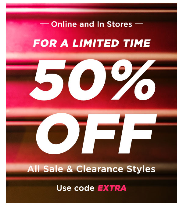 50% OFF SALE & CLEARANCE