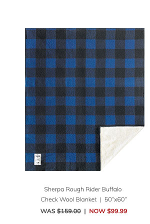 "Sherpa Rough Rider Buffalo Check Wool Blanket (50""x60"") Was: $159.00 Now: $99.99"