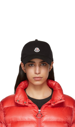 Moncler - Black Cotton Logo Cap