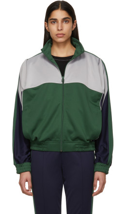NikeLab - Grey & Green Martine Rose Edition NRG K Track Jacket