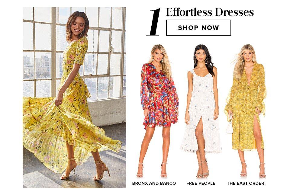 Closet Must-Haves: Effortless Dresses. Shop Now.