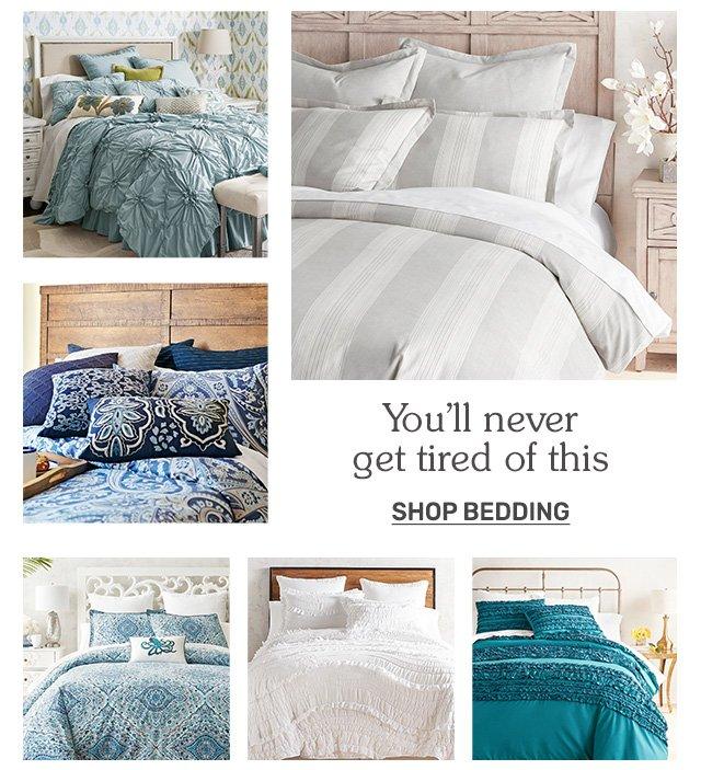 Shop bedding.