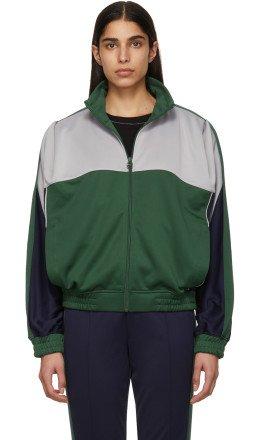 NikeLab - Grey & Green Martine Rose Edition NRG K Track Jacket