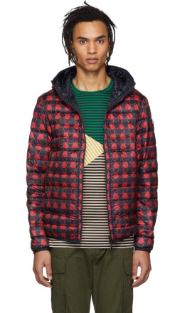 Moncler - Reversible Navy & Red Down Oise Jacket