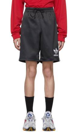 adidas Originals - Black Satin Shorts