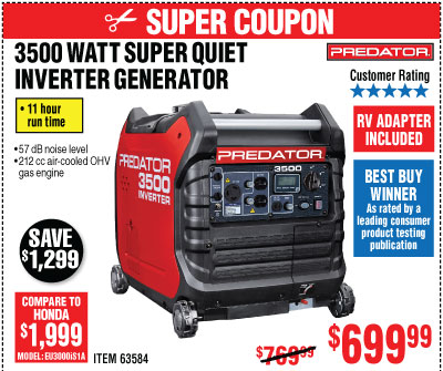 Harbor Freight: Shop all our Generator options and more | Milled