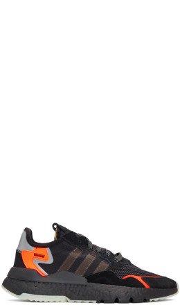 adidas Originals - Black & Orange Nite Jogger Sneakers