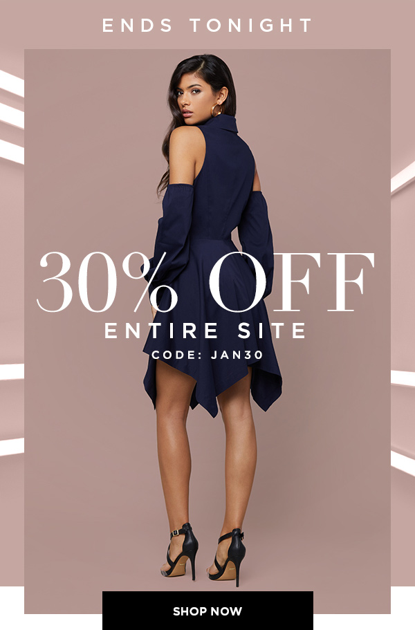 ENDS TONIGHT 30% Off Entire Site CODE: JAN30 SHOP NOW >