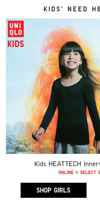 KIDS HEATTECH INNERWEAR STARTING AT $7.90 - SHOP GIRLS