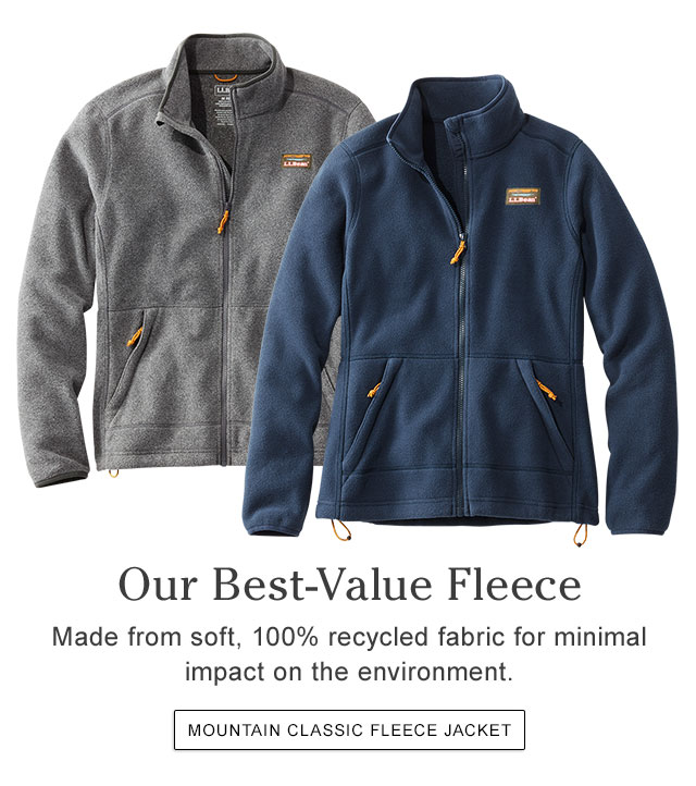 Our Best-Value Fleece. Made from soft, 100% recycled fabric for minimal impact on the environment.