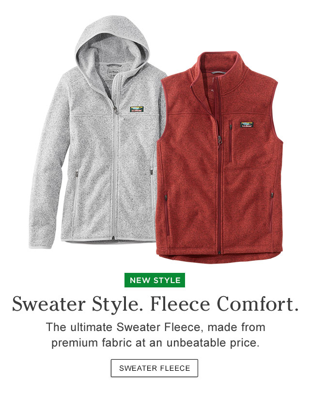 Sweater Style. Fleece Comfort. The ultimate Sweater Fleece, made from premium fabric at an unbeatable price.