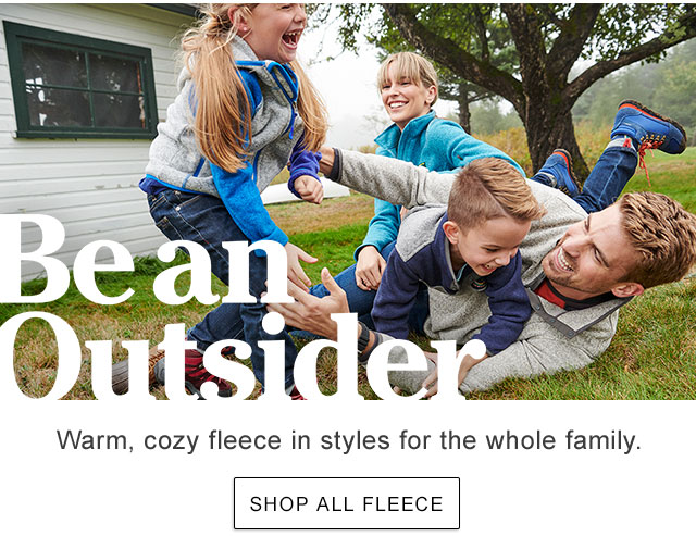 Warm, cozy fleece in styles for the whole family.