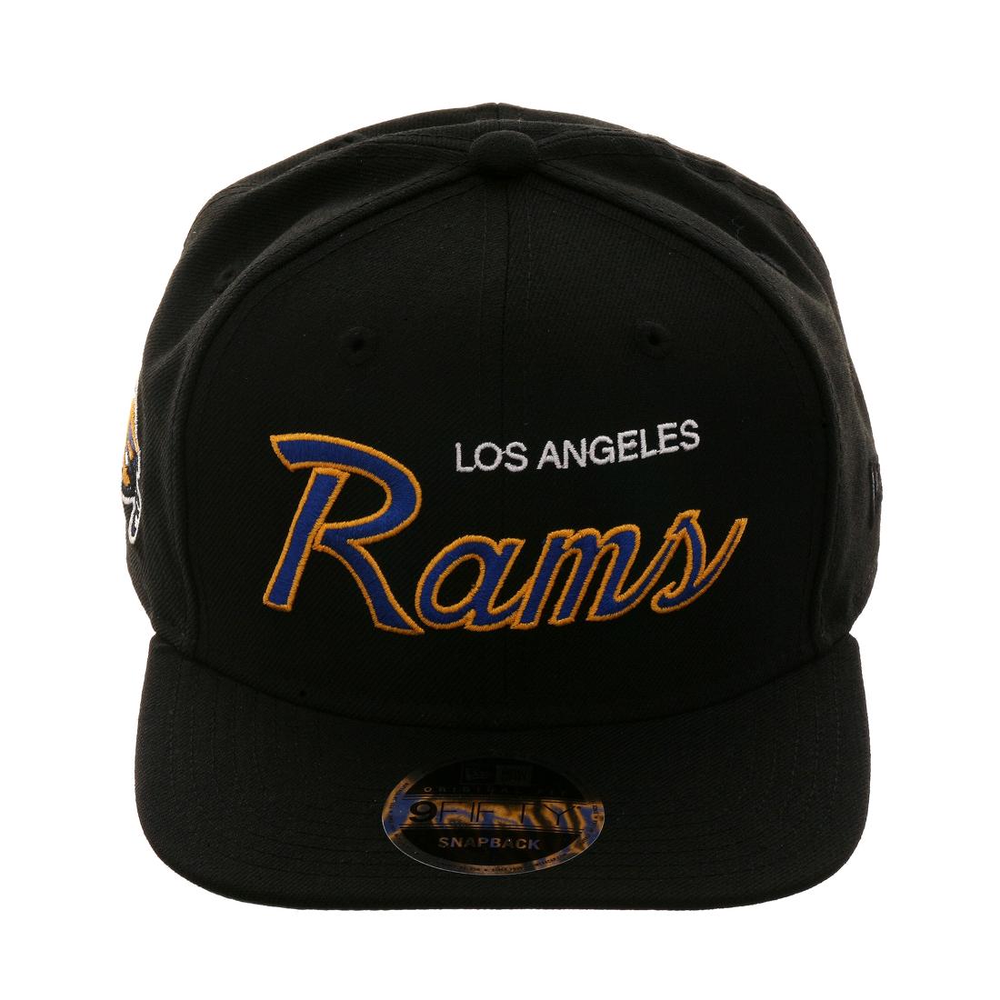 044532eebdc Exclusive New Era 9Fifty Los Angeles Rams Script