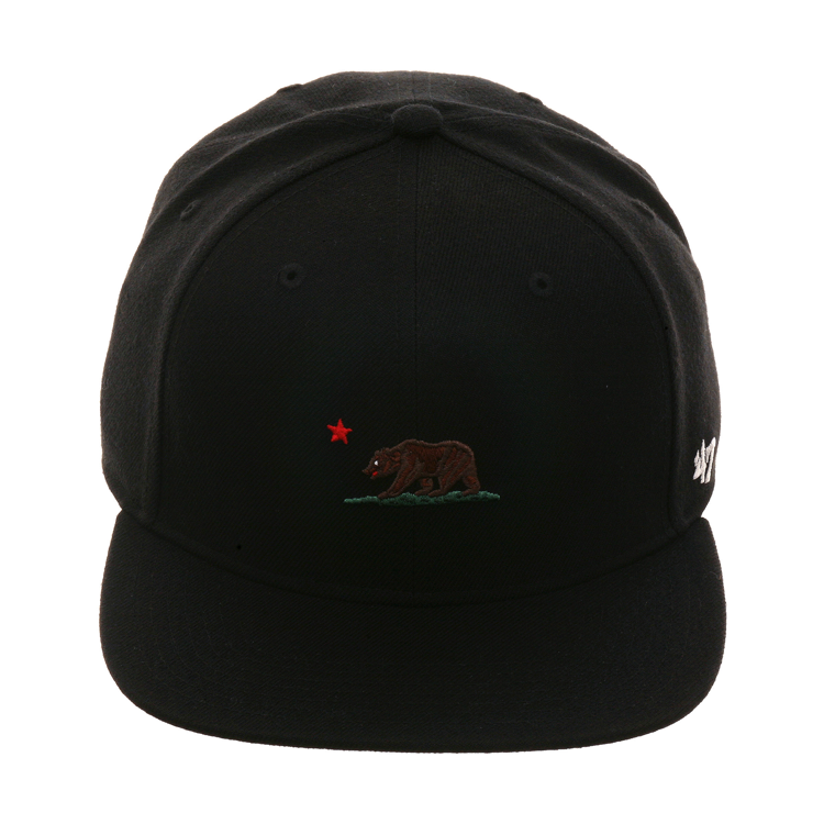 1df09f0289d 47 Brand Captain California Snapback Hat - Black