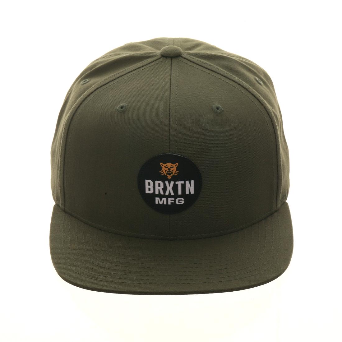 24df8527e05 Brixton Panther Snapback Hat - Olive