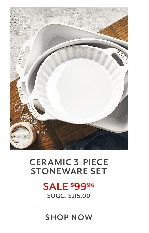 Ceramic 3-Piece Stoneware Set