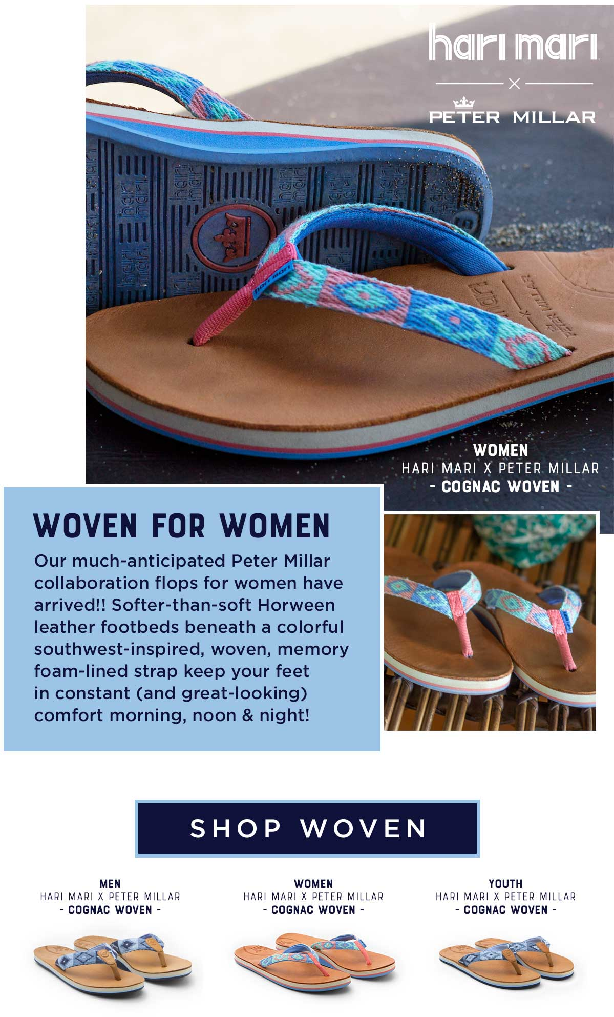 320c1fdf468 Our much-anticipated Peter Millar collaboration flops for women have  arrived!! Softer-