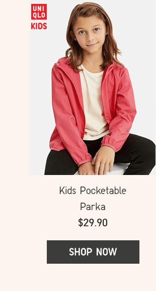 KIDS POCKETABLE PARKA $29.90 - SHOP NOW